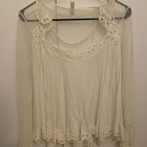 White lace free people shirt NEVER WORN
